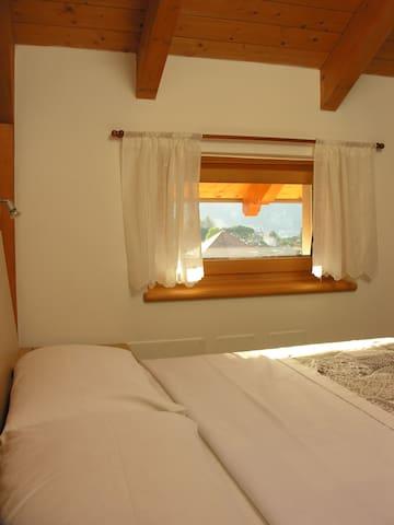 La camera da letto matrimoniale con un letto singolo