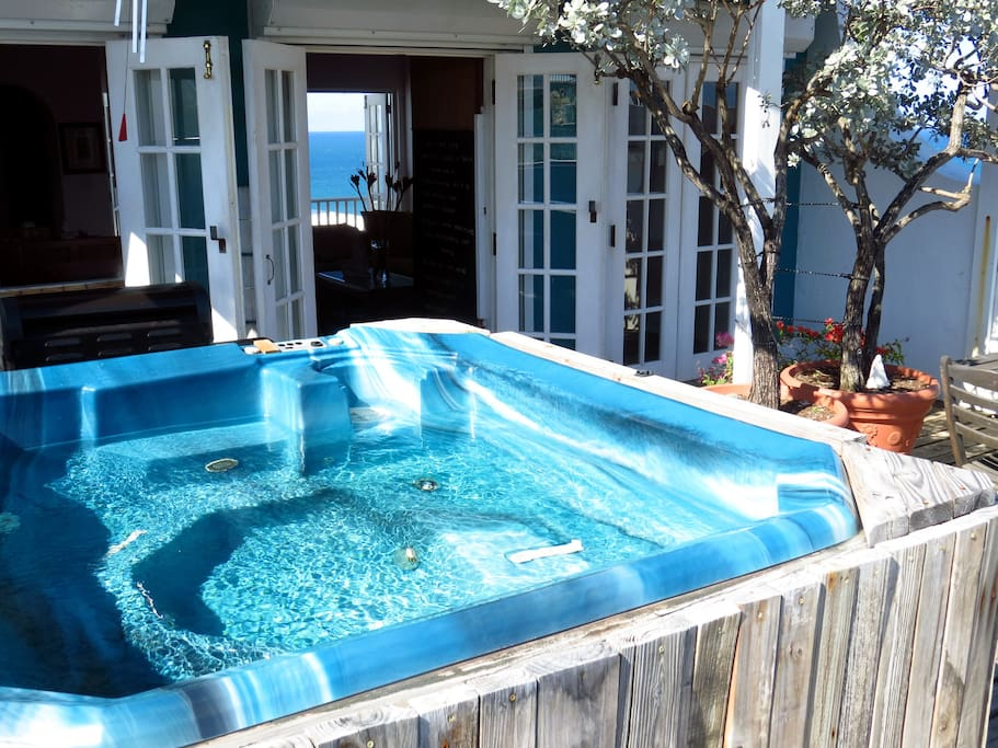 Sit in the jacuzzi on the 4th floor deck and let your eyes wander