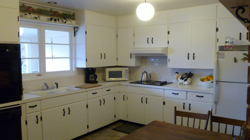 Large fully equipped country kitchen