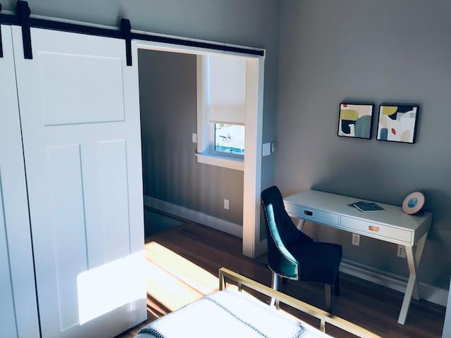 Barn Door Bedroom Entry