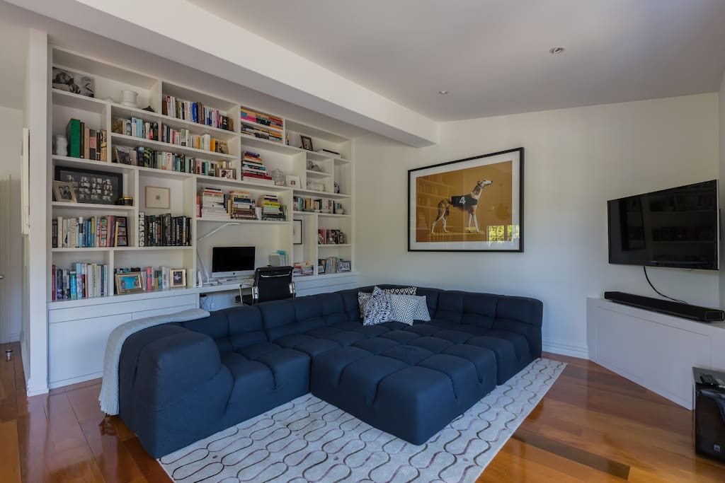 The perfect spot to curl up with a book or have a movie night!