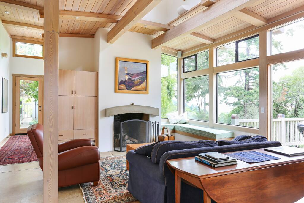 Views of Tomales Bay from your couch.