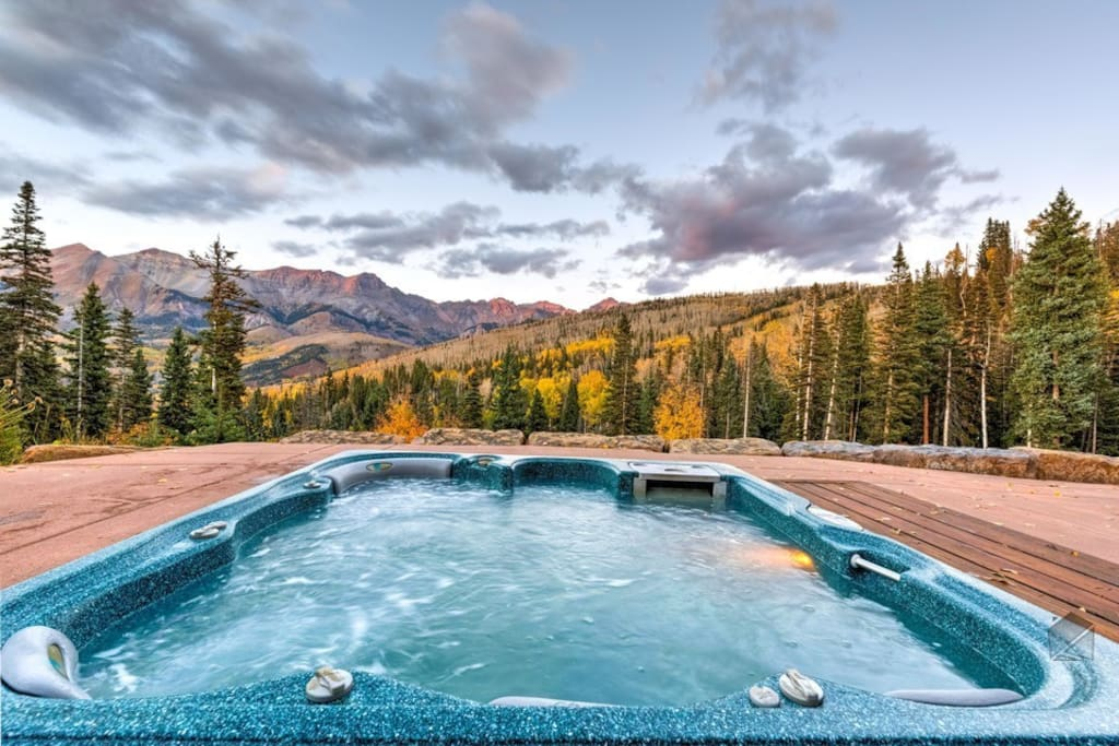 Soak it all in from your in-ground hot tub.