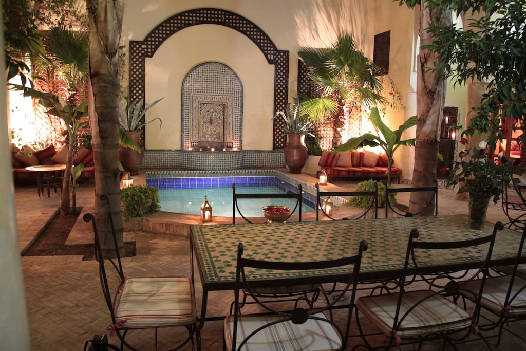 Splendid riad in marrakech m dina houses for rent in - Riad medina marrakech avec piscine ...