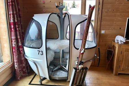 Chalet La Petite Ourse with deco Skilift inside