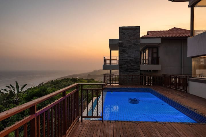 Top Billing exclusive home, 180 degree sea views.