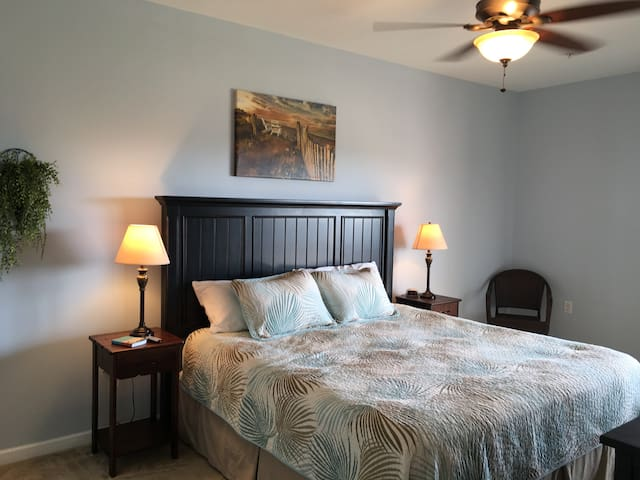 Large Master Bedroom has a King size Bed!