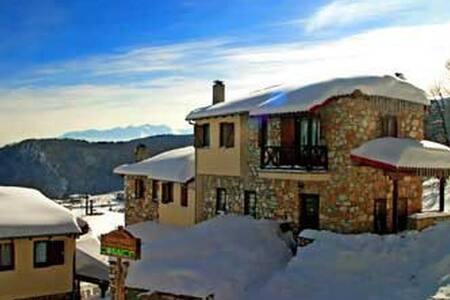 stone cottage in pierian mountains - Pieria