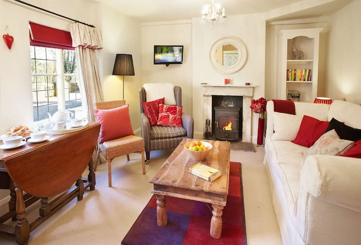 Ground floor: Sitting room with woodburning stove