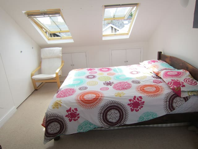 Large sunny loft room