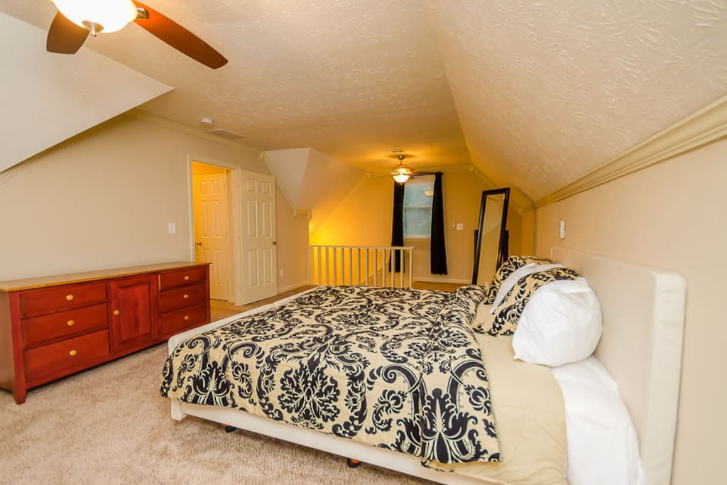Large bedrooms with new mattresses