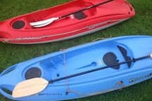 2 X Kayaks for exclusive use along with life jackets