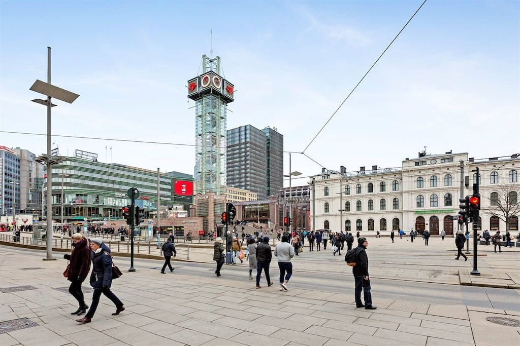 200m from OsloS central train station and communication hub