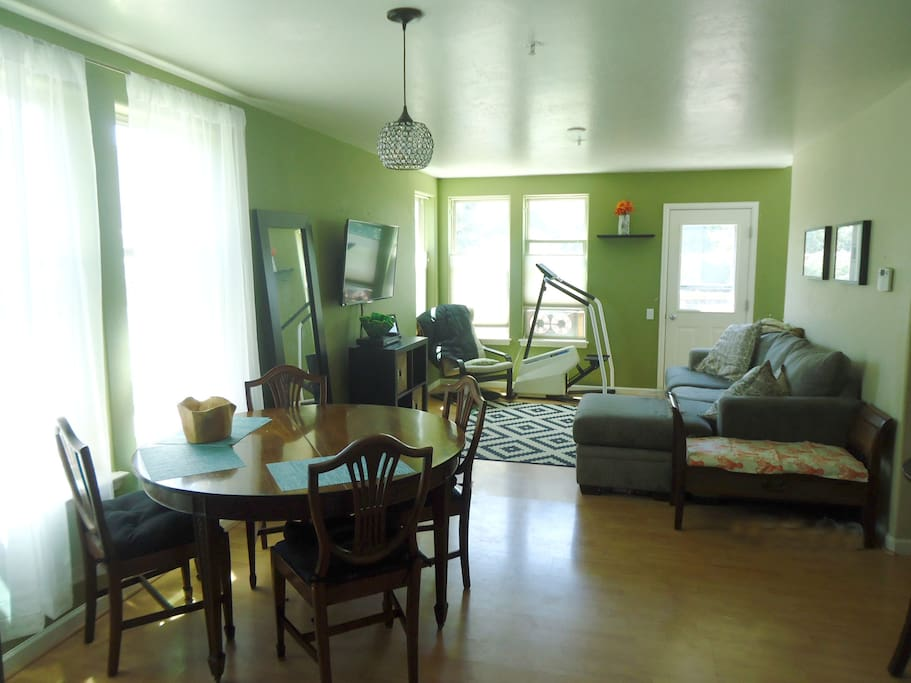 Dining to living room area