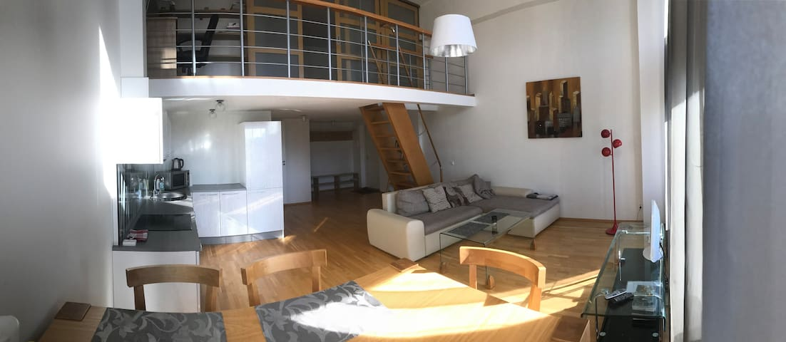 2-floor new apartment in centre