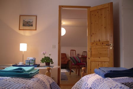 Spacious living area in our home - Kiruna - Bed & Breakfast