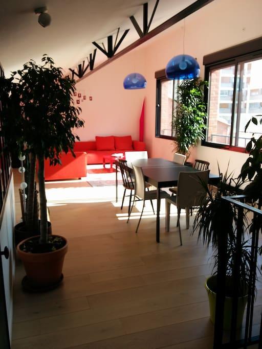 autre vue de la grande salle à vivre / another view of the living room