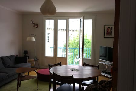 Chambre double en centre ville  - Appartement