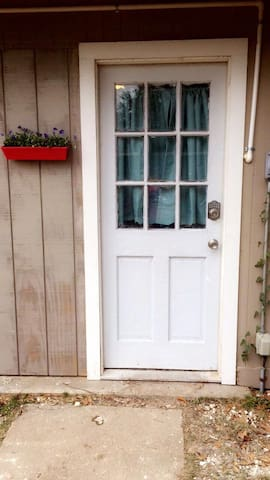 Front door to guest house