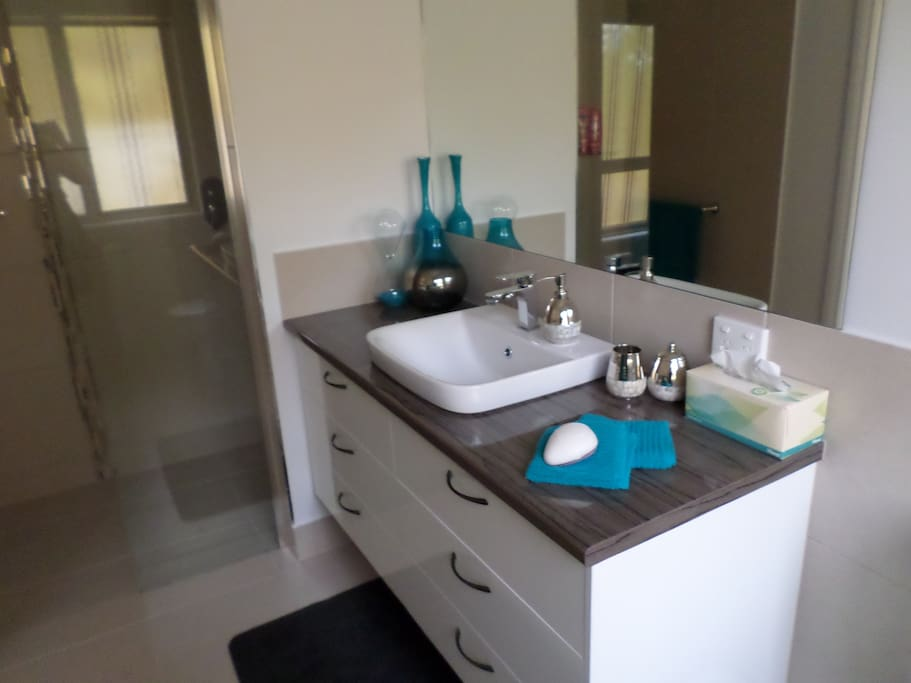 Luxury ensuite with walk in shower recess