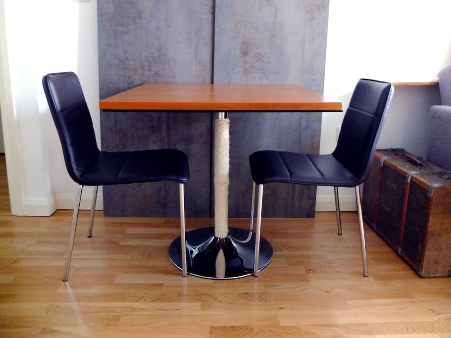 Dining table suitable up to 4 people (There are 4 chairs)