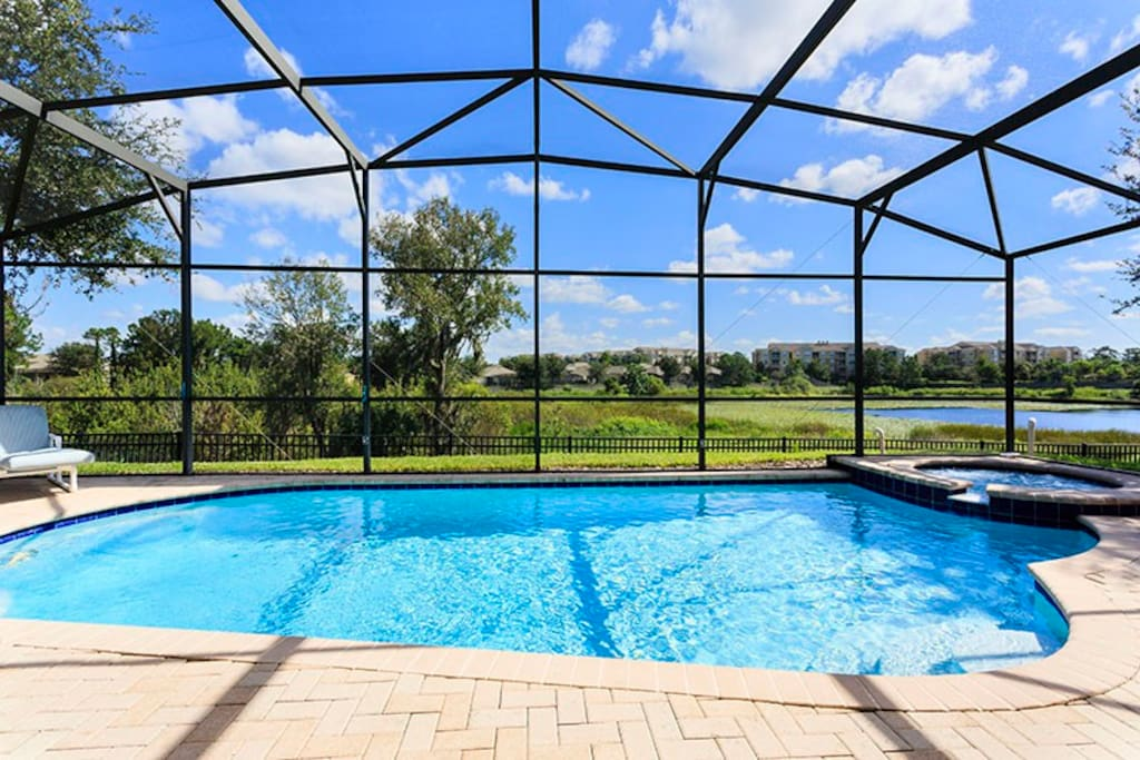 Enjoy the Florida sun by your private pool