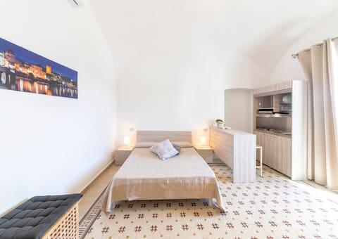 Camera con cucina_Civico67
