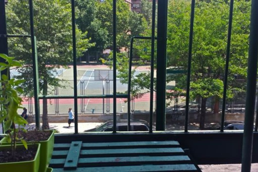View of Essex St and the Tennis Courts from our front window