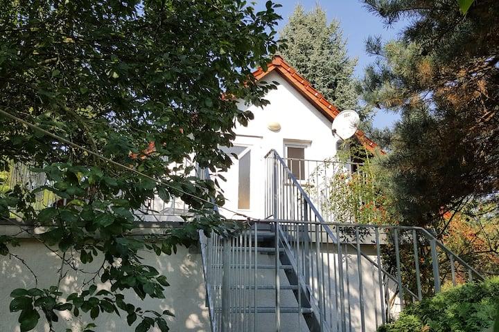 Modern vakantiehuis in Friedland met een privétuin