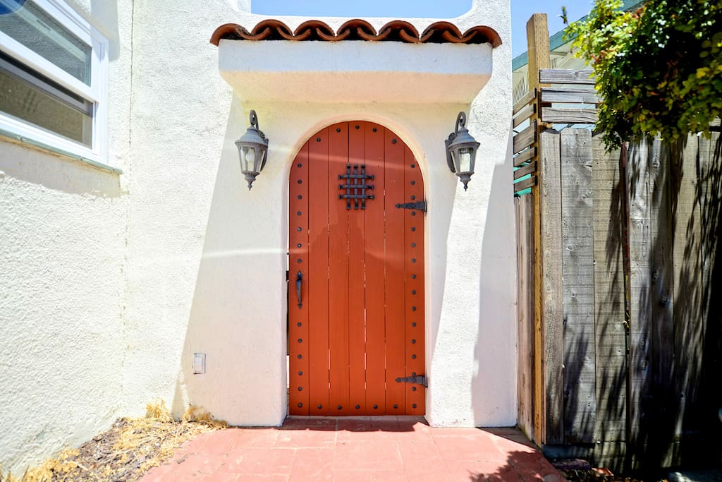 This door leads to your Casita - the art studio I converted for your comfort. Come on in!
