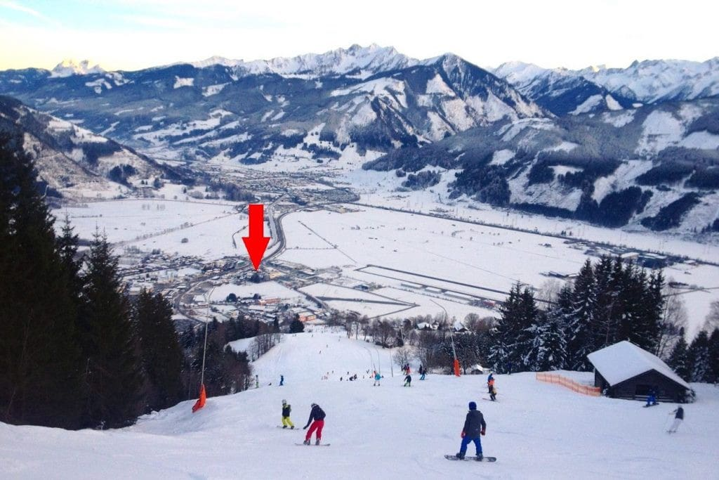 The house from the ski piste