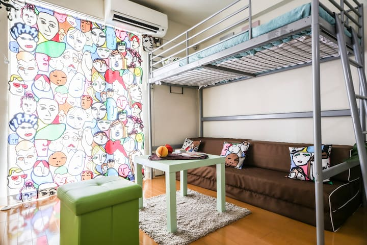 JR Meguro st. 2min walk / Free WiFi, Central Tokyo - Minato-ku - Apartment