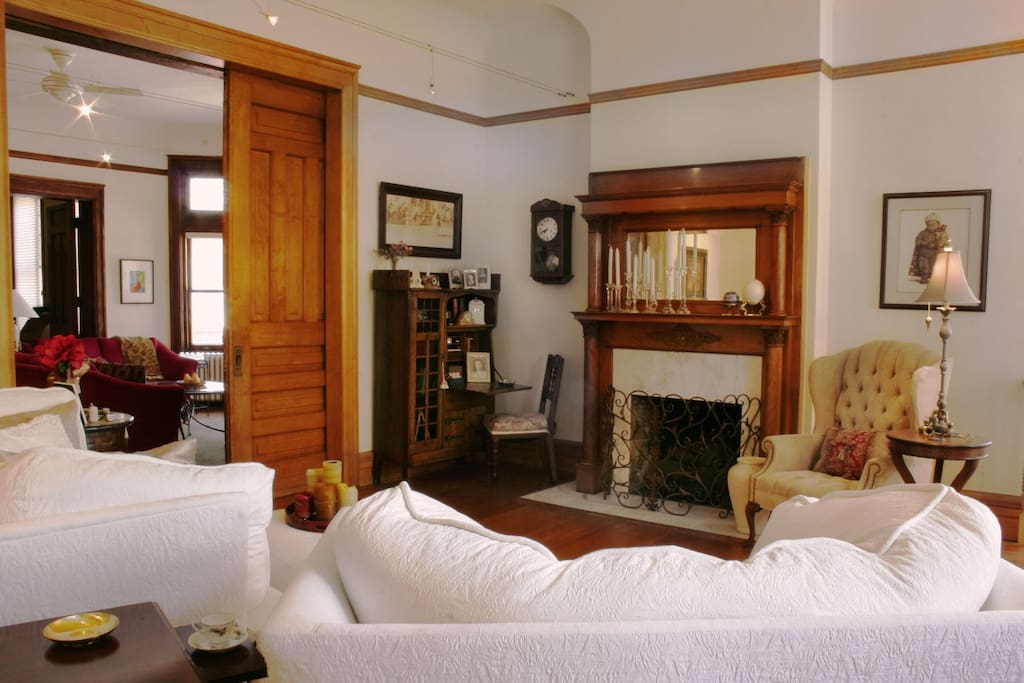 Use of Living Room.  Pocket doors can be closed for privacy.