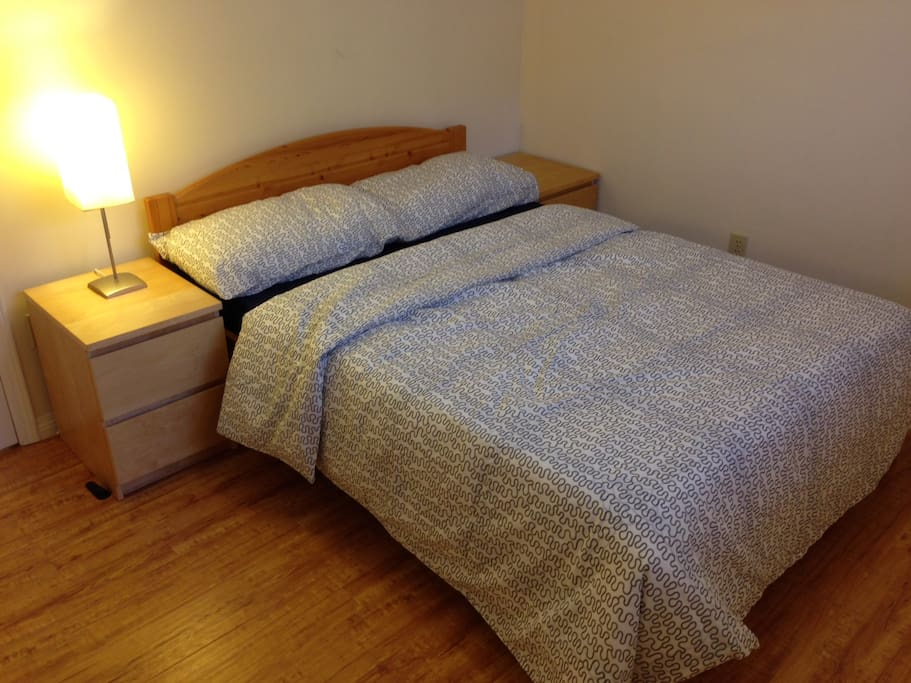 double bed with pillow top high end mattress