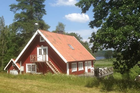 National romantic cottage near lake - Torpa - Chatka