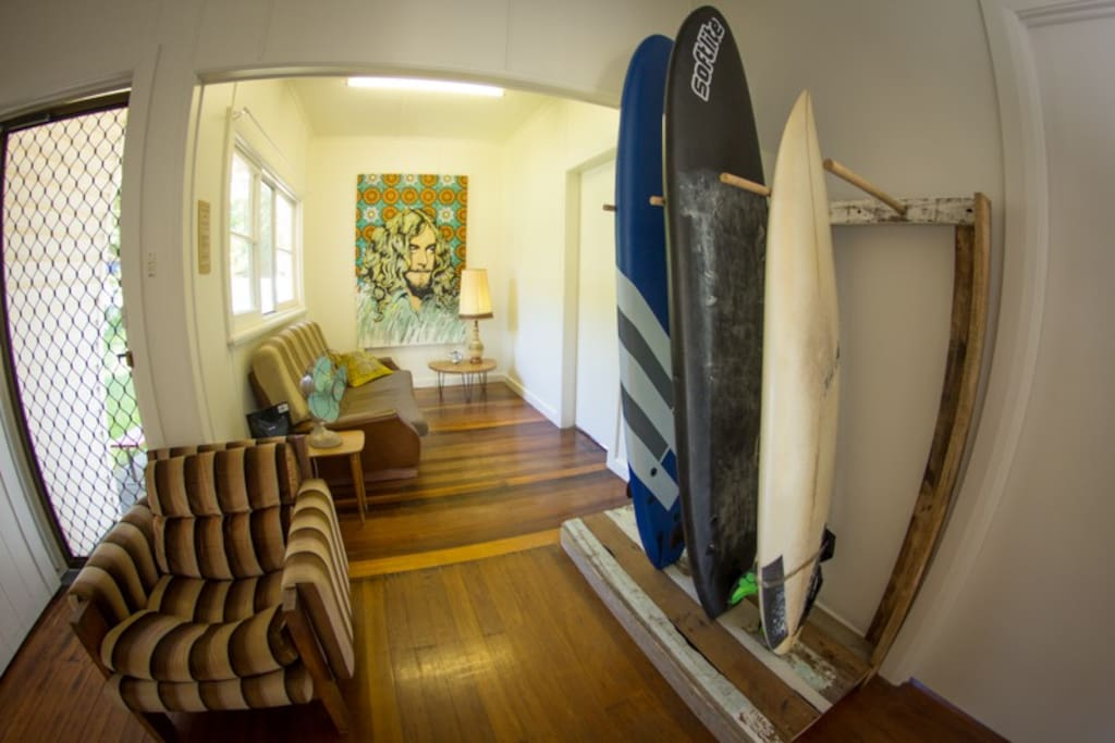 Guest Surfboards! 2 7ft mini mals, great for beginners.