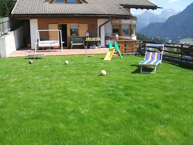 Rustic Holiday Apartment Villa Mazzel with Wi-Fi, Balcony & Mountain View; Parking Available, Pets Allowed