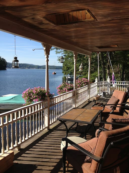 Enjoy the gorgeous views from comfortable seating on the porch
