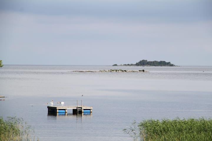 Egen stuga precis vid Vänern - inga grannar - Lidköping - Stuga