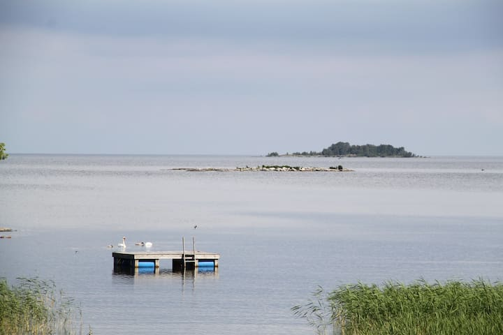 Väner cottage, seafront and sauna – no neighbours - Lidköping - Srub