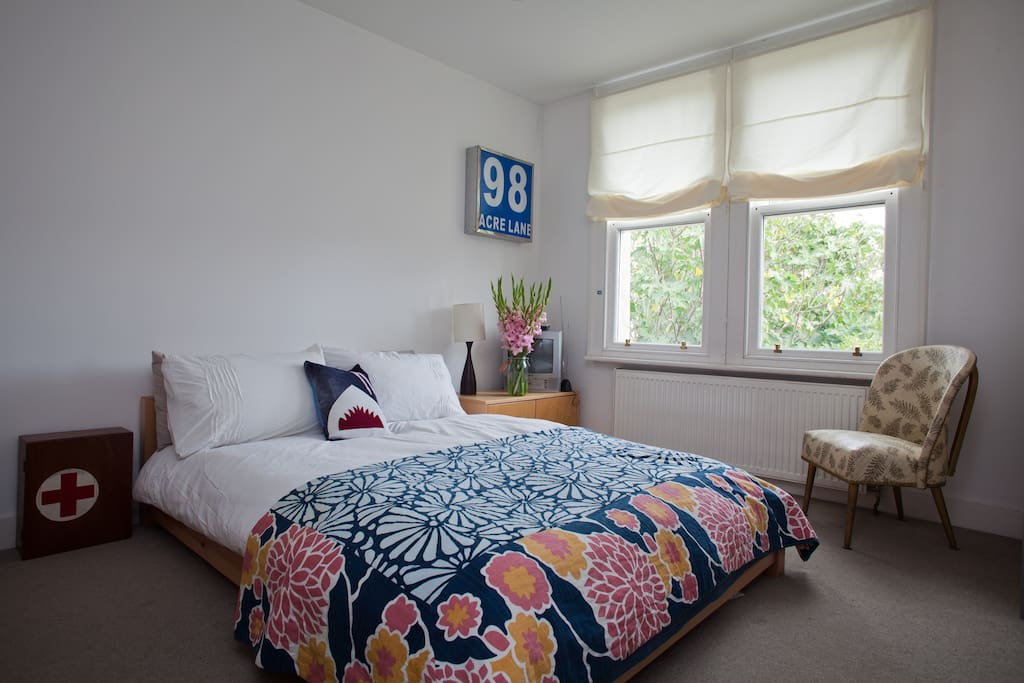 Blue Room is fun and playful on it's own floor with TV and DVD library and private bathroom 16sqm