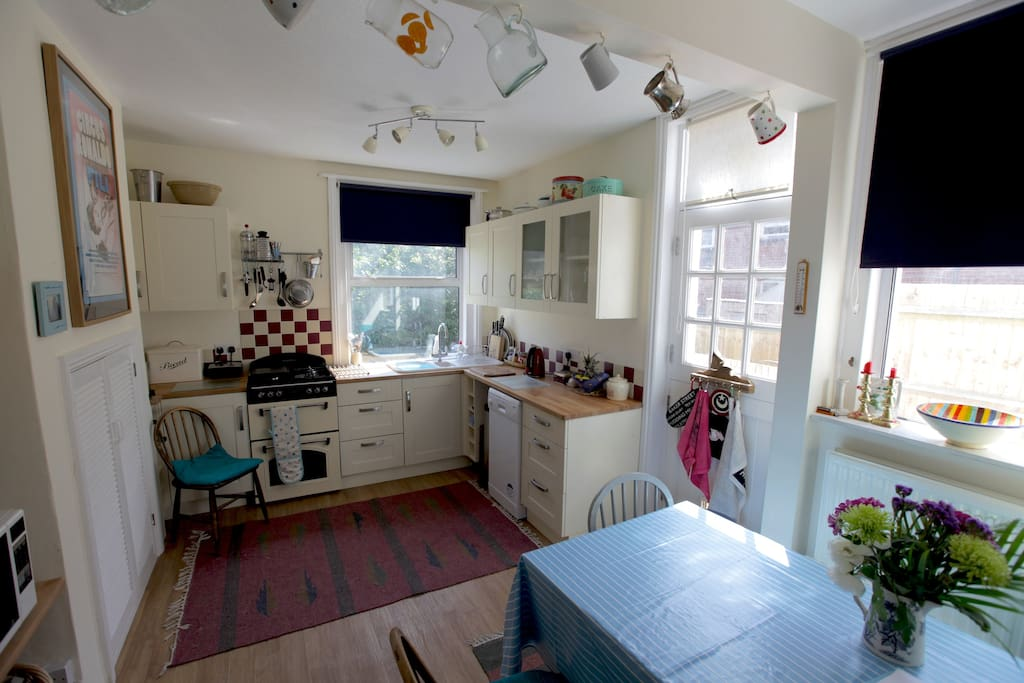 Here is our kitchen, it's new so we are rather proud of it!