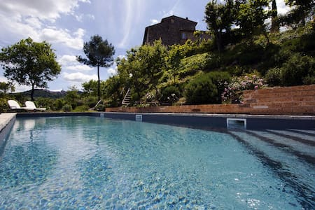 Stone tower with garden and pool - Todi - House