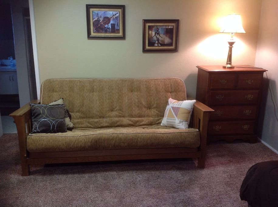 Ample seating and sleeping surfaces create a cozy and comfy space