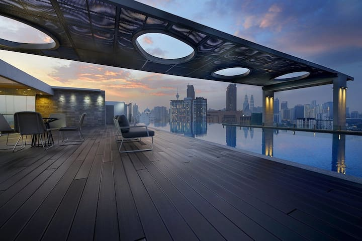 KLCity AWESOME Infinity Pool 1BR D1704 吉隆坡一房公寓 - Kuala Lumpur - Apartment-Hotel