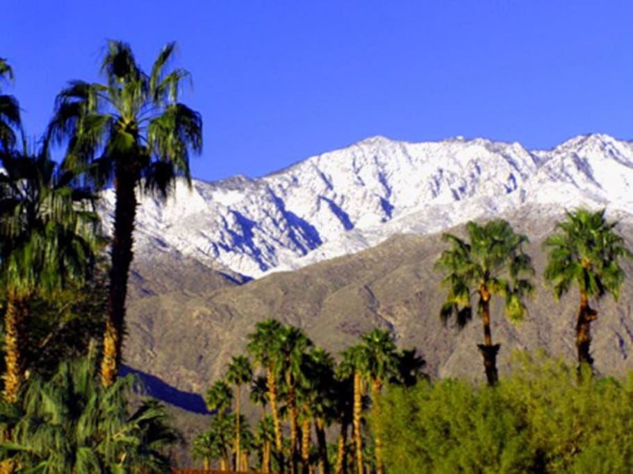 Mountains above Palm Springs in Winter
