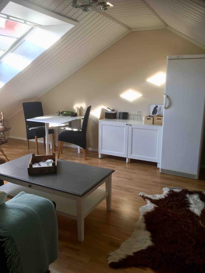 Koselig rom med loftstue i Vestby sentrum