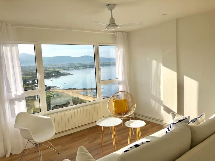 Casa con vistas al mar en Pedreña, golf y playa.
