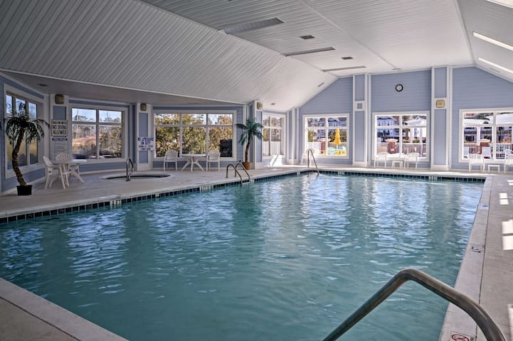 Lounge by the indoor pool or soak in the steamy hot tub!