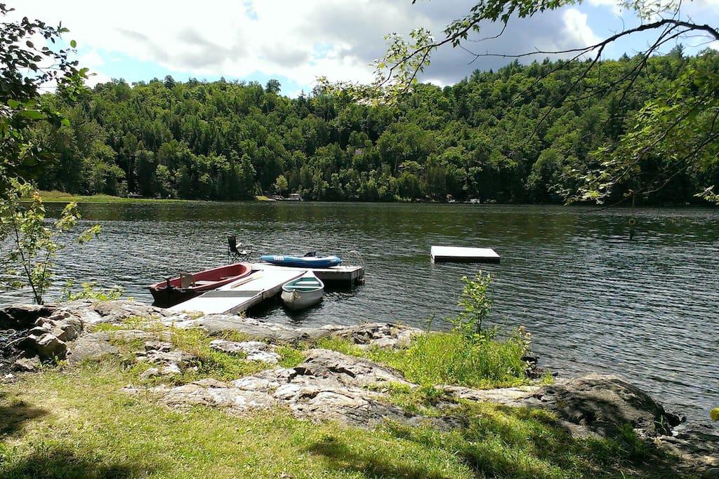 Weed free swimming, kayaks, canoes and fishing boat